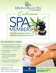 Creekside Spa Membership Flier